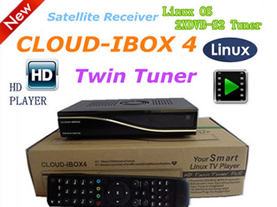 CLOUD IBOX IV Linux Operating System support vu+duo image DVB-S2 Twin Tuner TV BOX Digital Satellite Receiver