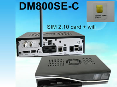 DM800 HD se DVB-C SIM 2.10 Cable Receiver with Wifi