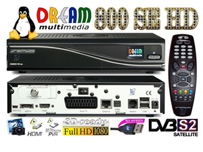 DECODER DREAMBOX SUNRAY DM800SE HD WIFI SIM 2.10 BCm4505 Sat Receiver
