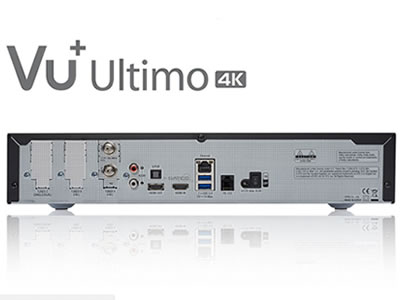 VU+ Ultimo 4K UHD Linux Satellite Receiver with 1 x Dual DVB-S2 FBC Tuner
