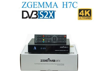 Zgemma H.7C 4K UHD Dual Core With DVB-S2/S2X+2*DVB-T2/C Triple Tuner FTA Satellite receiver