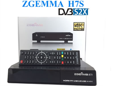 Zgemma H.7S 4K UHD Dual Core With 2*DVB-S2/S2X+DVB-T2/C Triple Tuner FTA Satellite receiver